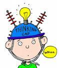 wiz-kid with thinking cap.